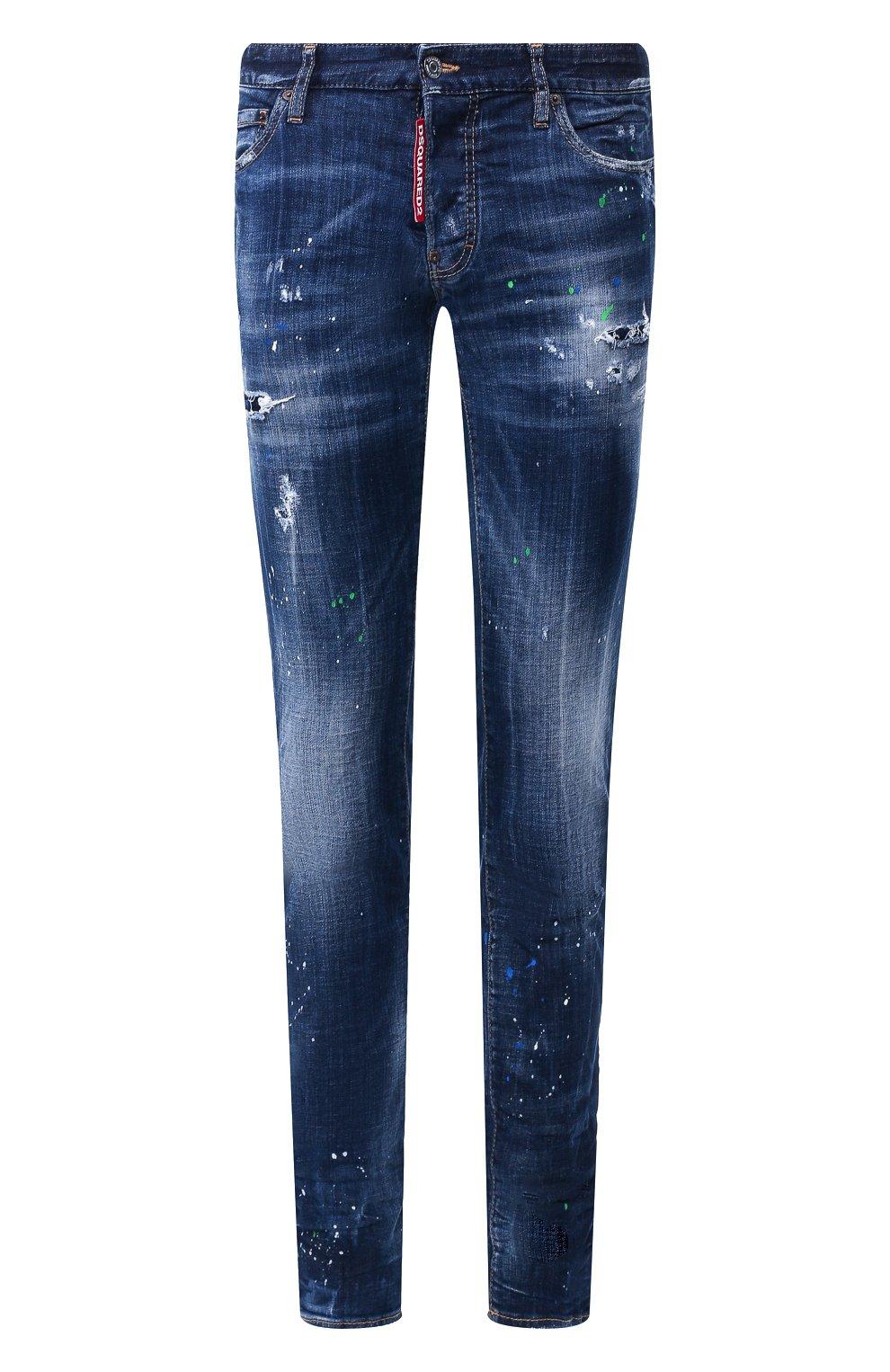 Мужские джинсы DSQUARED2 синего цвета, арт. S71LB0637/S30342   Фото 1