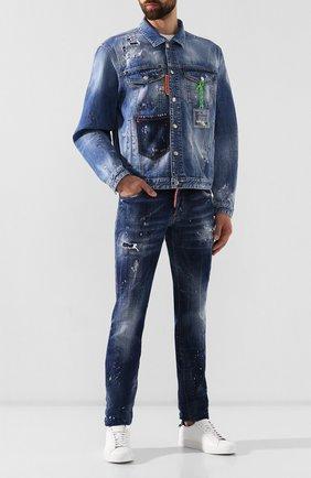 Мужские джинсы DSQUARED2 синего цвета, арт. S71LB0637/S30342   Фото 2