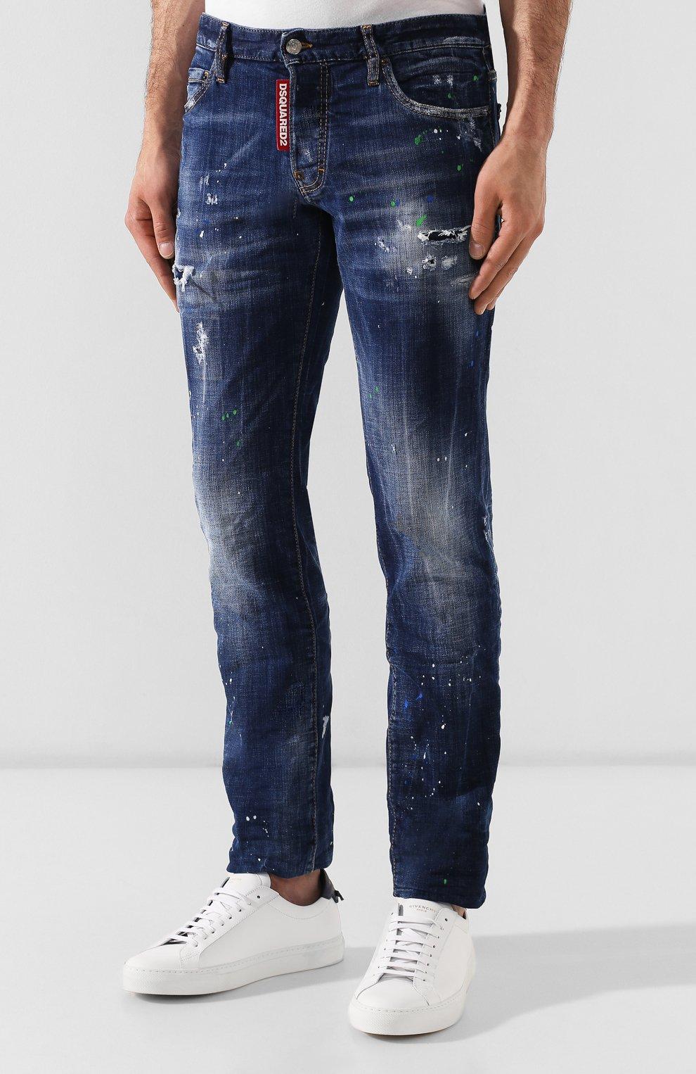 Мужские джинсы DSQUARED2 синего цвета, арт. S71LB0637/S30342   Фото 3