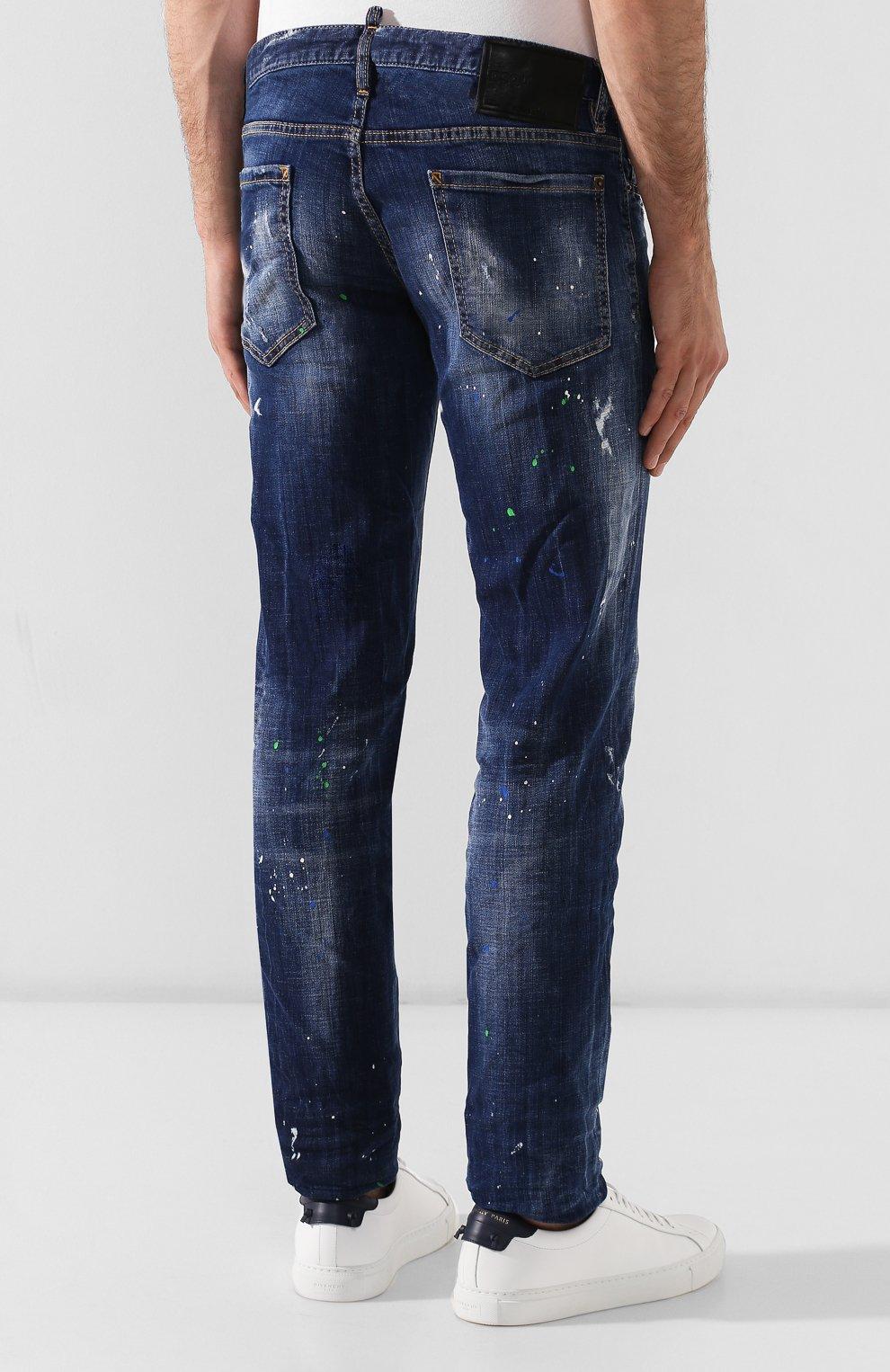 Мужские джинсы DSQUARED2 синего цвета, арт. S71LB0637/S30342   Фото 4