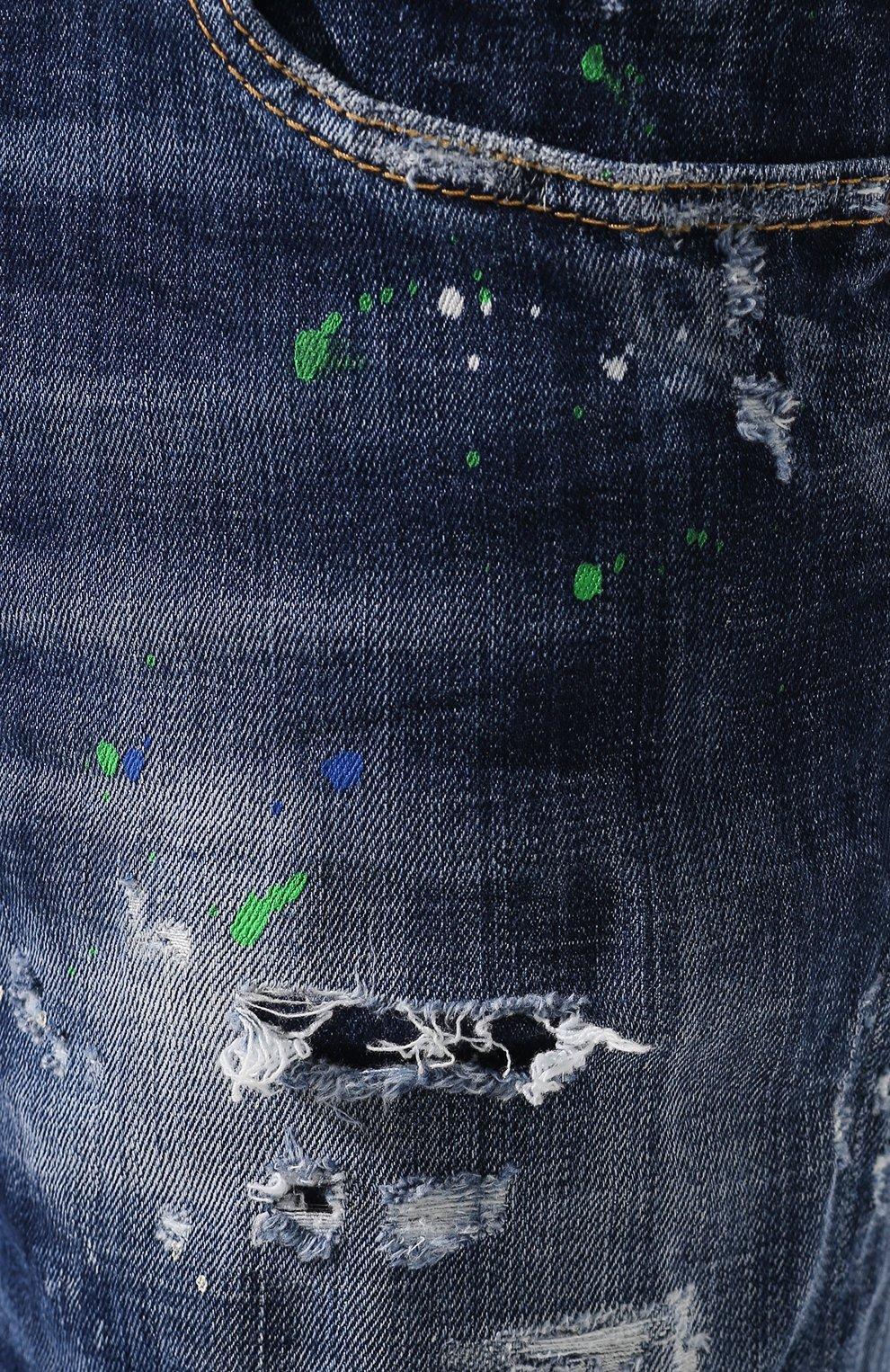 Мужские джинсы DSQUARED2 синего цвета, арт. S71LB0637/S30342   Фото 5