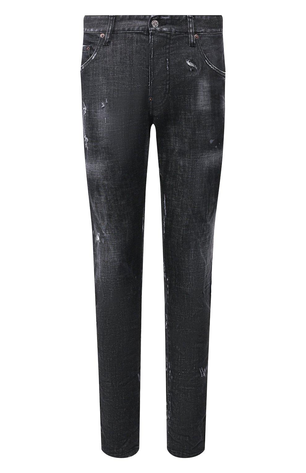 Мужские джинсы DSQUARED2 черного цвета, арт. S71LB0658/S30357 | Фото 1
