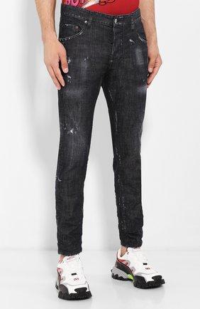 Мужские джинсы DSQUARED2 черного цвета, арт. S71LB0658/S30357 | Фото 3