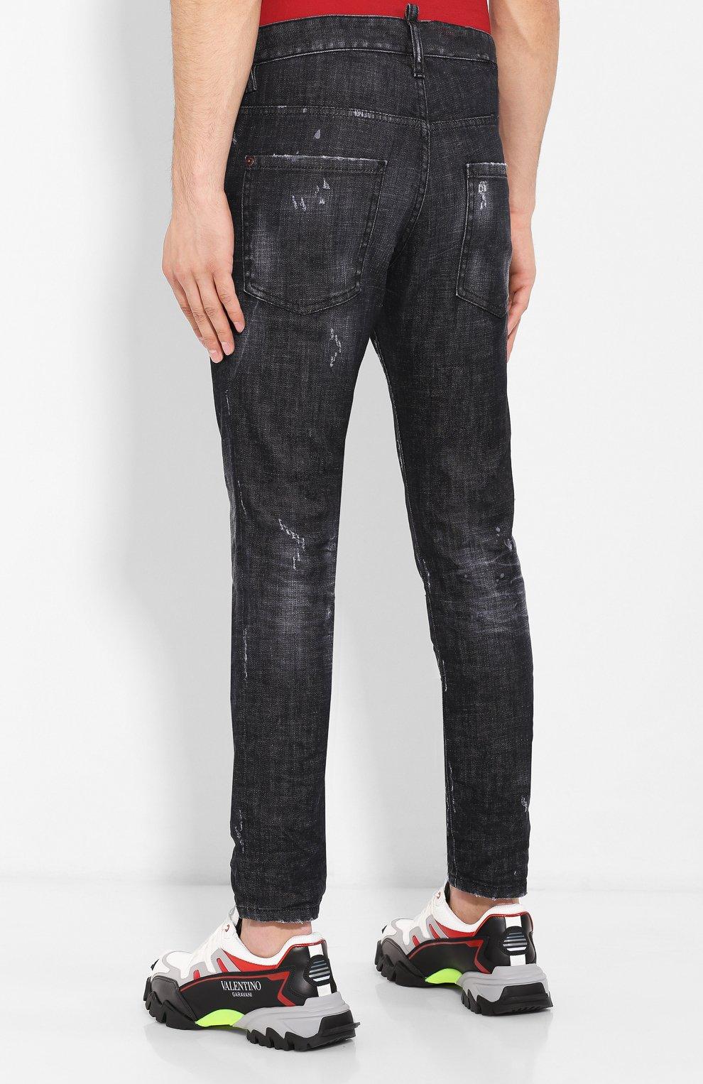 Мужские джинсы DSQUARED2 черного цвета, арт. S71LB0658/S30357 | Фото 4