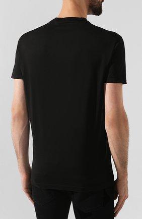 Мужская хлопковая футболка DSQUARED2 черного цвета, арт. S74GD0550/S22427 | Фото 4