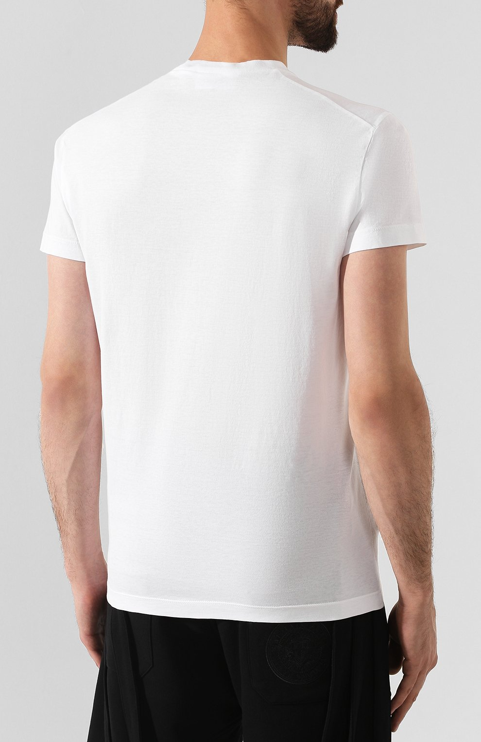 Мужская хлопковая футболка DSQUARED2 белого цвета, арт. S74GD0564/S22427   Фото 4