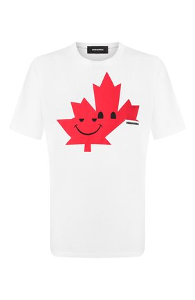 Мужская хлопковая футболка DSQUARED2 белого цвета, арт. S74GD0571/S21600 | Фото 1