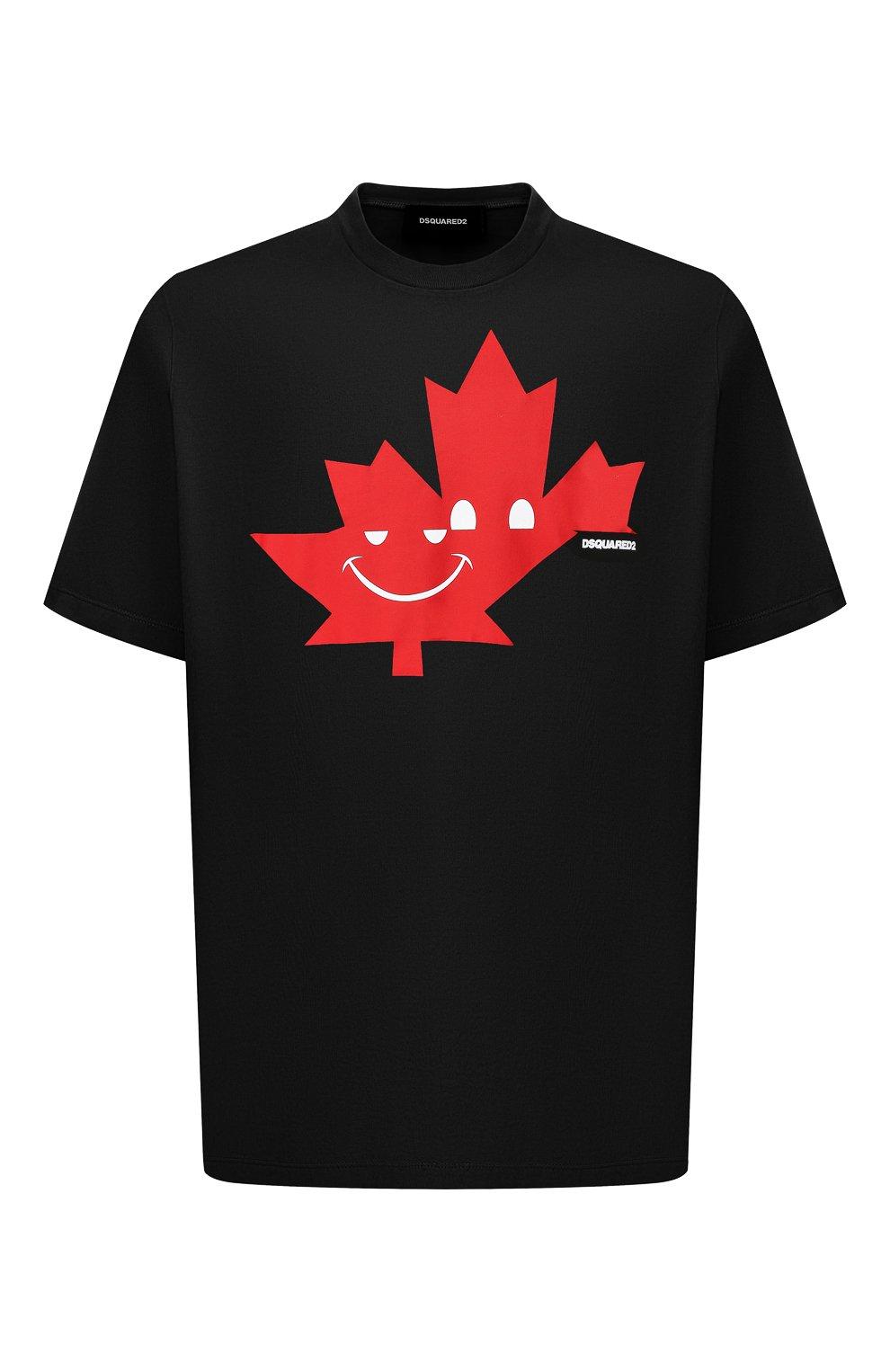 Мужская хлопковая футболка DSQUARED2 черного цвета, арт. S74GD0571/S21600 | Фото 1