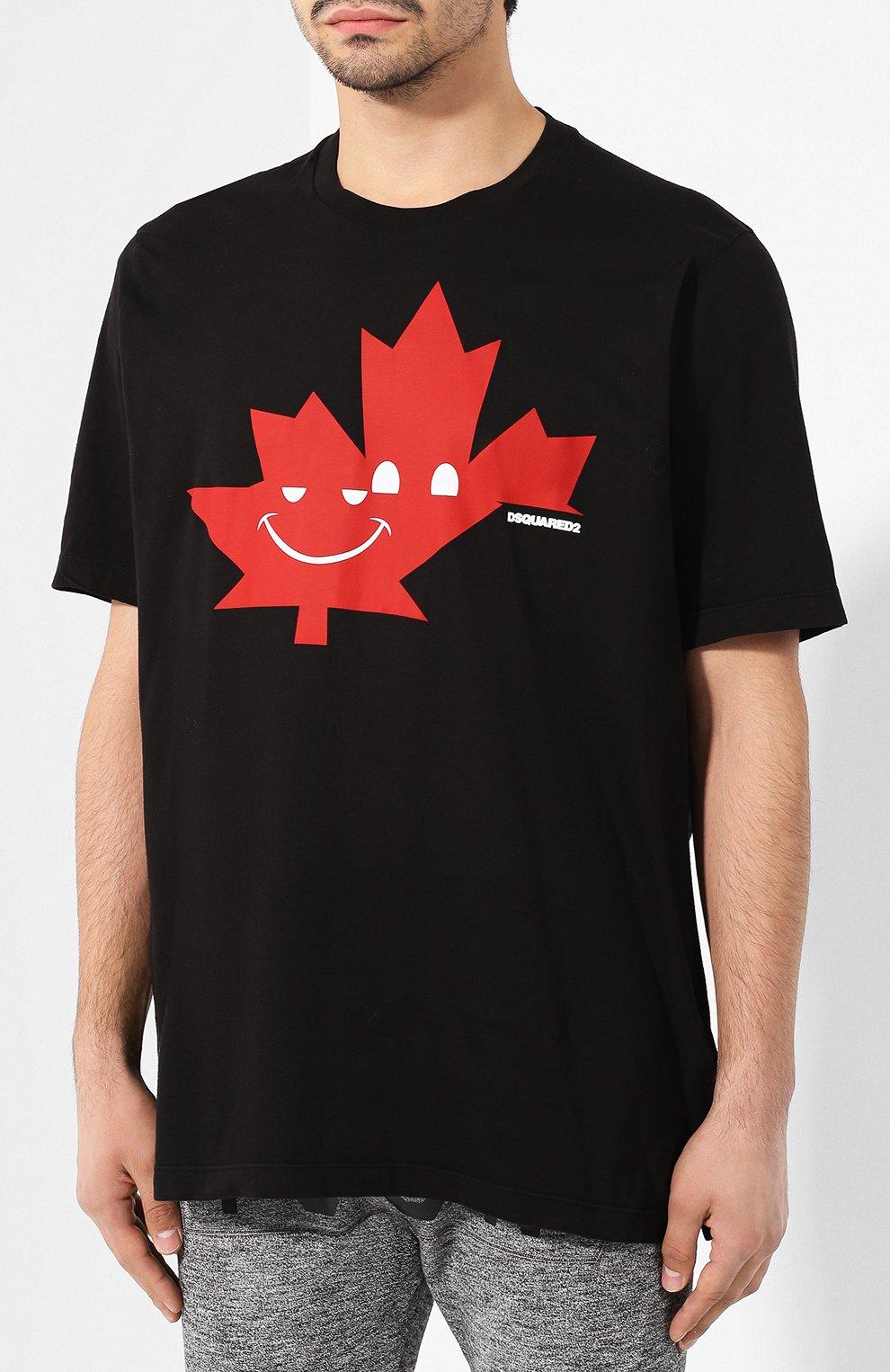 Мужская хлопковая футболка DSQUARED2 черного цвета, арт. S74GD0571/S21600 | Фото 3