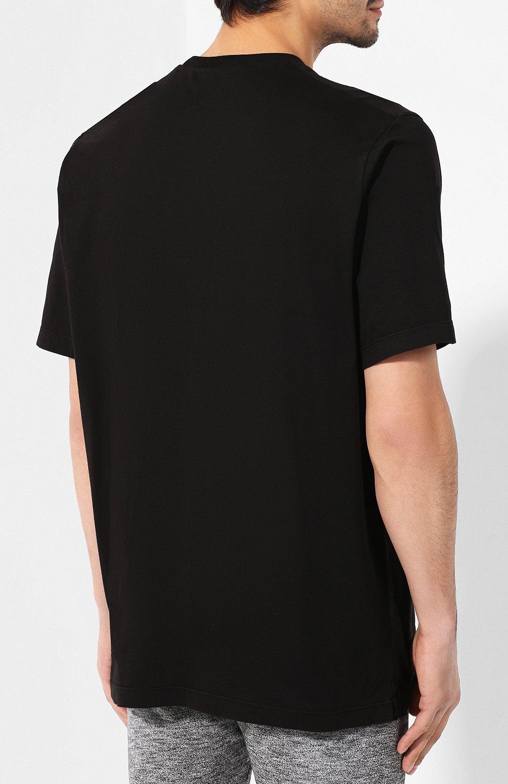 Мужская хлопковая футболка DSQUARED2 черного цвета, арт. S74GD0571/S21600 | Фото 4