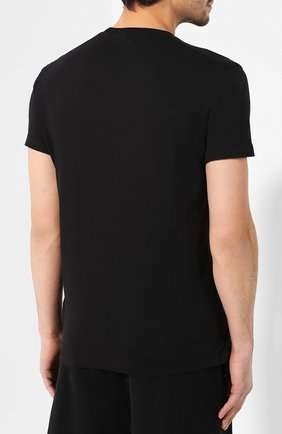 Мужская хлопковая футболка DSQUARED2 черного цвета, арт. S74GD0581/S21600 | Фото 4