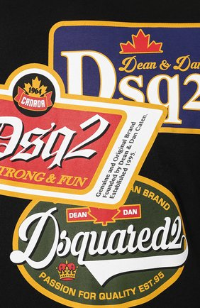 Мужская хлопковая футболка DSQUARED2 черного цвета, арт. S74GD0581/S21600 | Фото 5