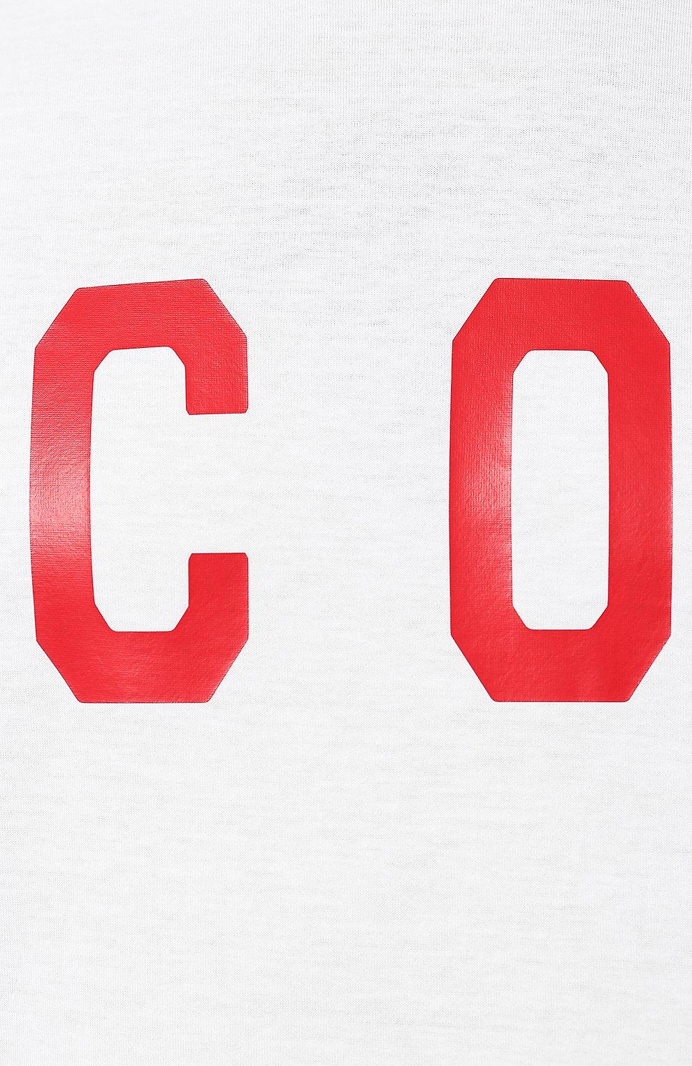 Мужская хлопковая футболка DSQUARED2 белого цвета, арт. S74GD0601/S22427 | Фото 5