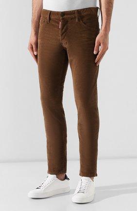 Мужские джинсы DSQUARED2 коричневого цвета, арт. S74LB0555/S40737 | Фото 3