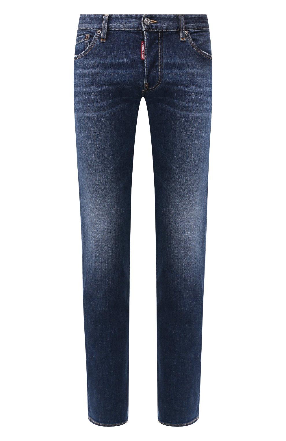 Мужские джинсы DSQUARED2 темно-синего цвета, арт. S74LB0565/S30664 | Фото 1