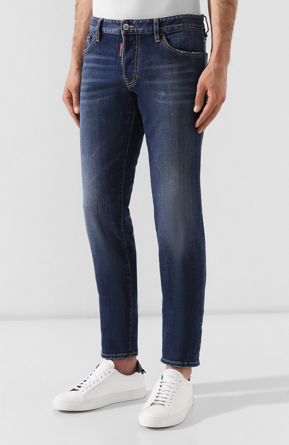 Мужские джинсы DSQUARED2 темно-синего цвета, арт. S74LB0565/S30664 | Фото 3