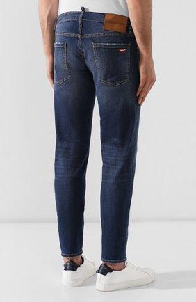 Мужские джинсы DSQUARED2 темно-синего цвета, арт. S74LB0565/S30664 | Фото 4