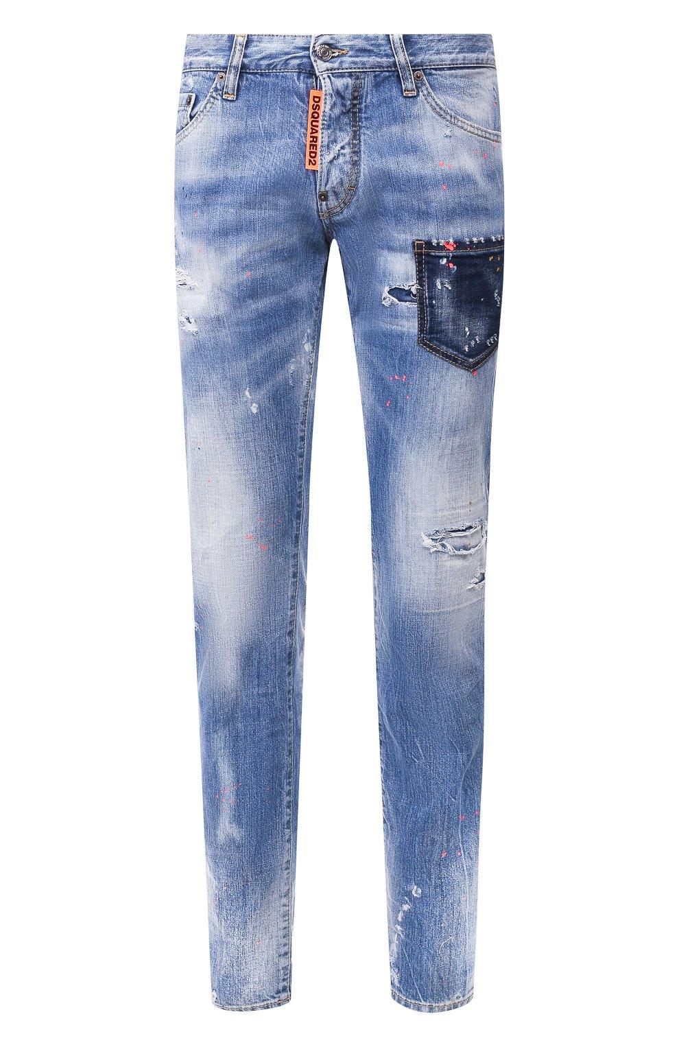 Мужские джинсы DSQUARED2 синего цвета, арт. S74LB0600/S30309 | Фото 1
