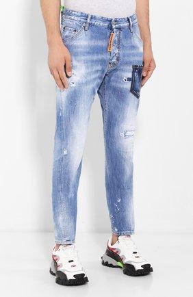 Мужские джинсы DSQUARED2 синего цвета, арт. S74LB0600/S30309 | Фото 3