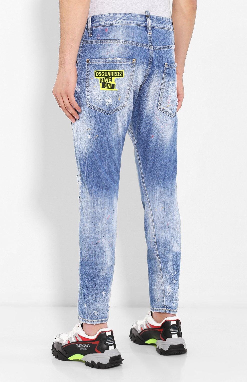 Мужские джинсы DSQUARED2 синего цвета, арт. S74LB0600/S30309 | Фото 4