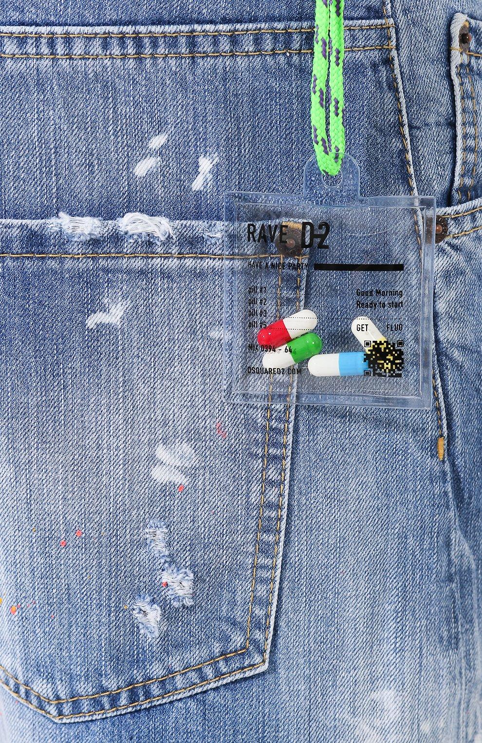 Мужские джинсы DSQUARED2 синего цвета, арт. S74LB0600/S30309 | Фото 5