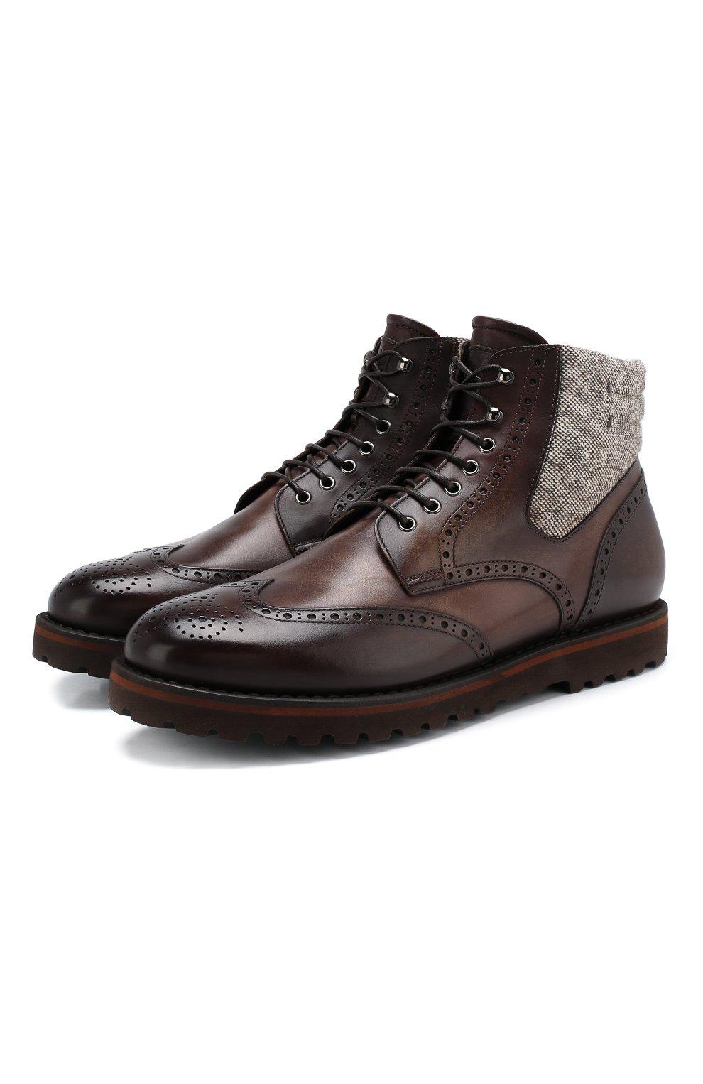 Мужские кожаные ботинки W.GIBBS коричневого цвета, арт. 0929072/1426 | Фото 1