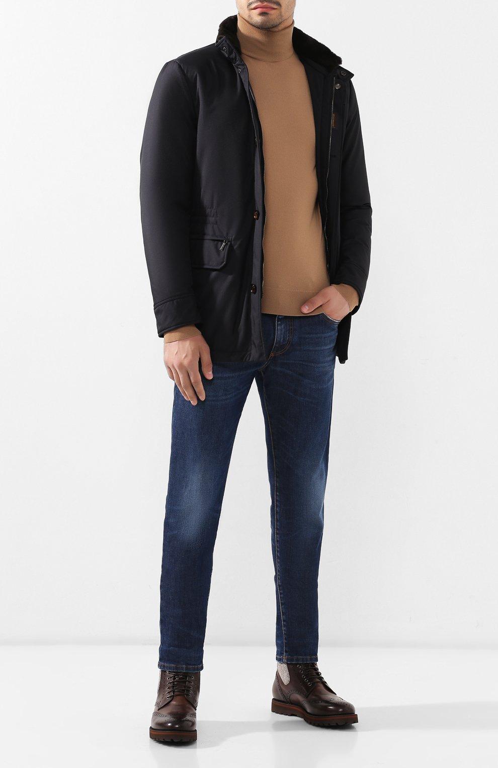Мужские кожаные ботинки W.GIBBS коричневого цвета, арт. 0929072/1426 | Фото 2