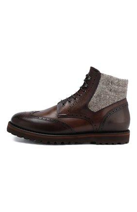 Мужские кожаные ботинки W.GIBBS коричневого цвета, арт. 0929072/1426 | Фото 3