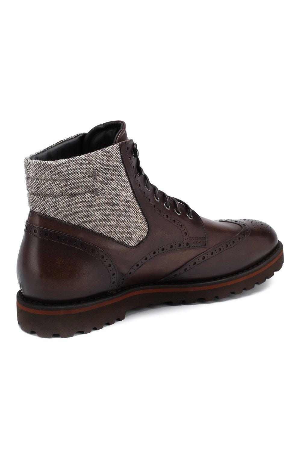 Мужские кожаные ботинки W.GIBBS коричневого цвета, арт. 0929072/1426 | Фото 4