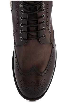 Мужские кожаные ботинки W.GIBBS коричневого цвета, арт. 0929072/1426 | Фото 5