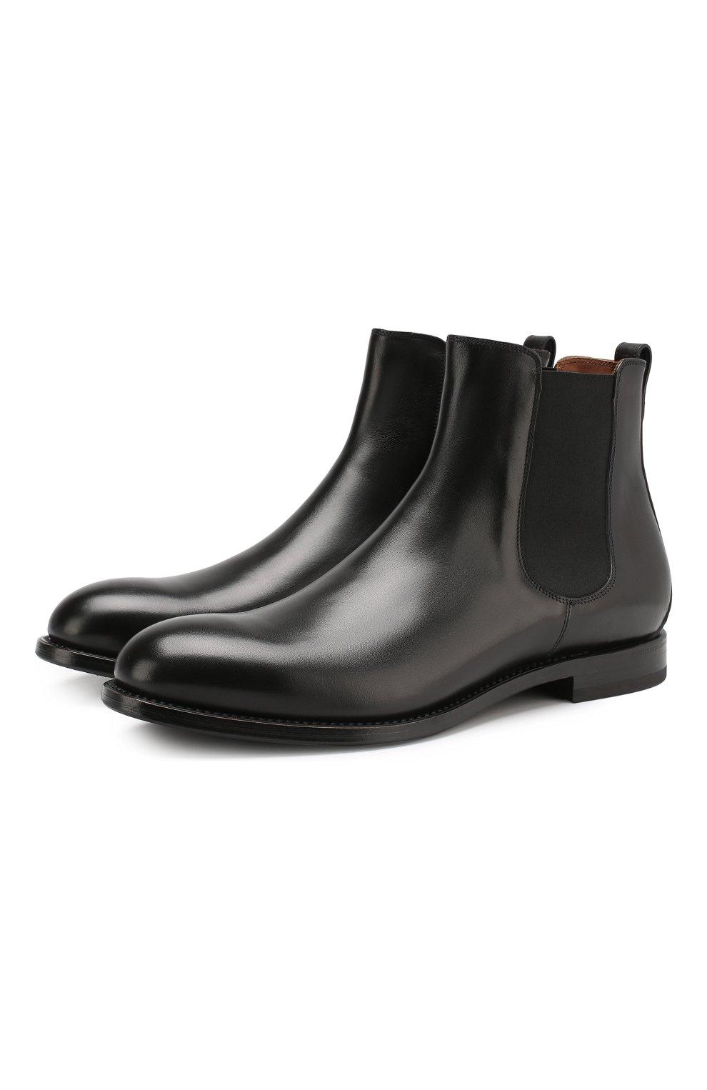 Мужские кожаные челси W.GIBBS черного цвета, арт. 2552060/0216   Фото 1