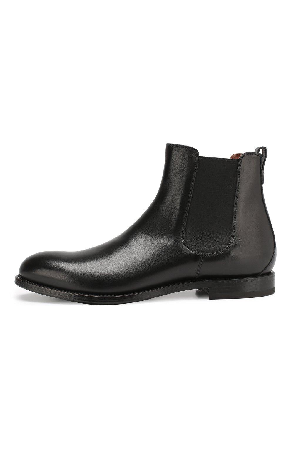 Мужские кожаные челси W.GIBBS черного цвета, арт. 2552060/0216   Фото 3