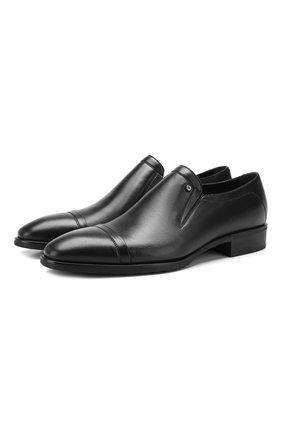 Мужские кожаные лоферы ALDO BRUE черного цвета, арт. AB602FPH-NL | Фото 1