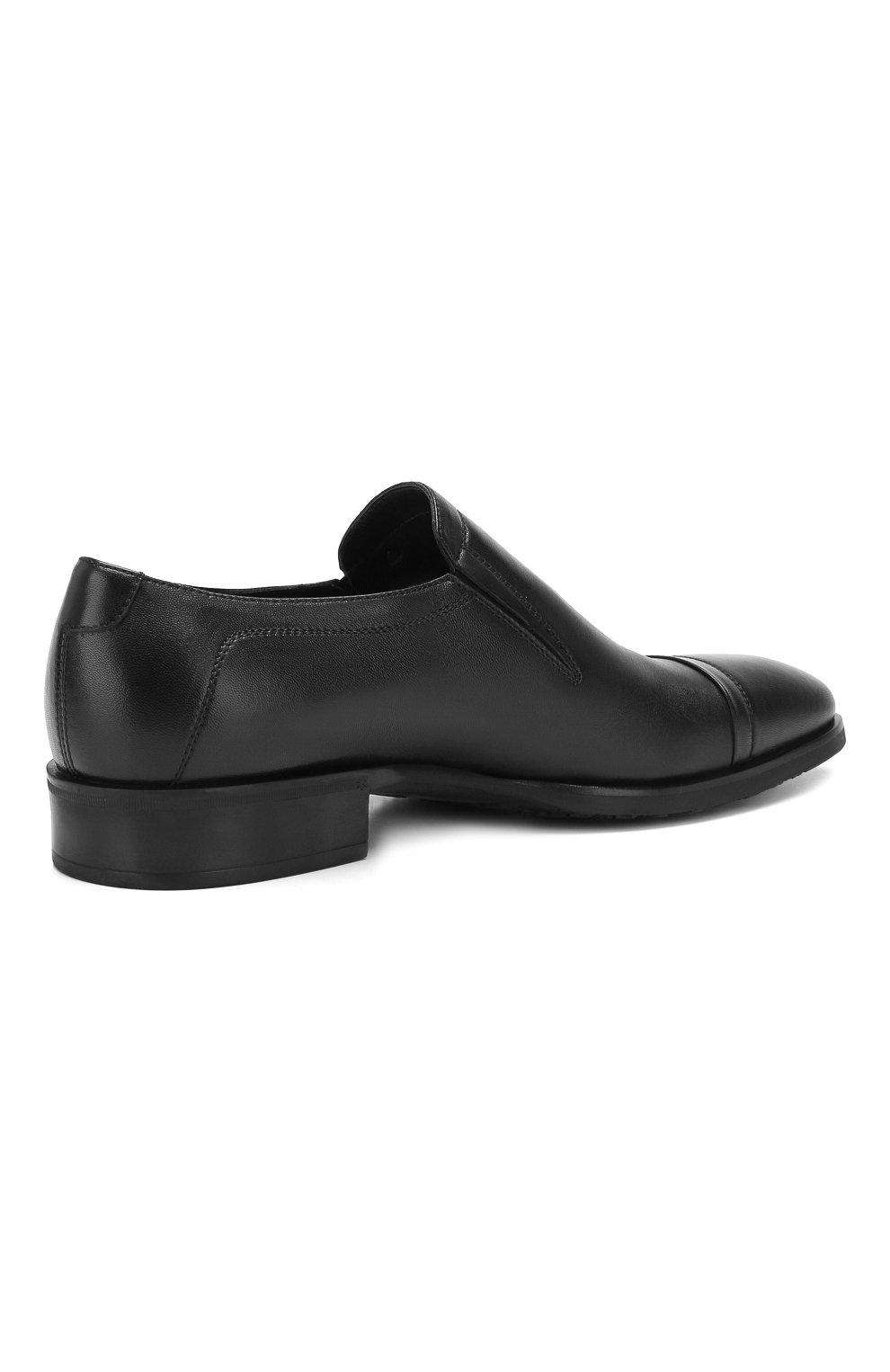 Мужские кожаные лоферы ALDO BRUE черного цвета, арт. AB602FPH-NL | Фото 4