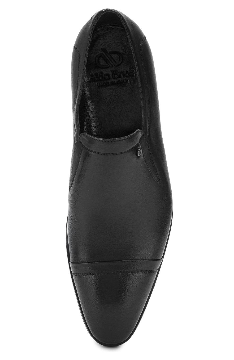 Мужские кожаные лоферы ALDO BRUE черного цвета, арт. AB602FPH-NL | Фото 5