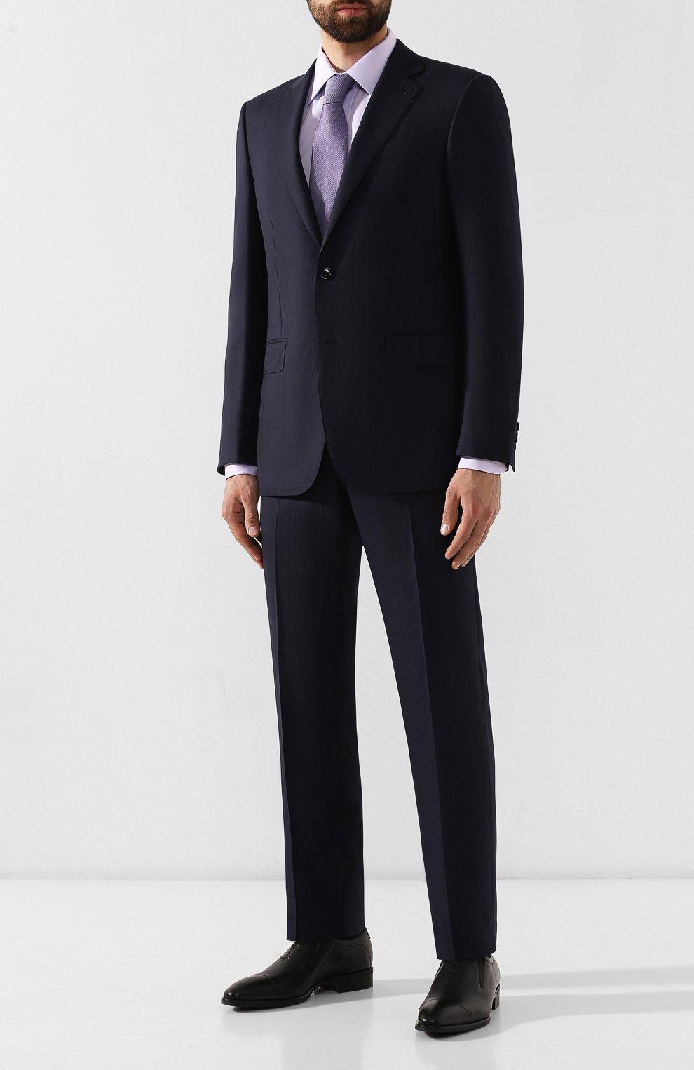 Мужские кожаные лоферы ALDO BRUE черного цвета, арт. AB604FPH-NL | Фото 2