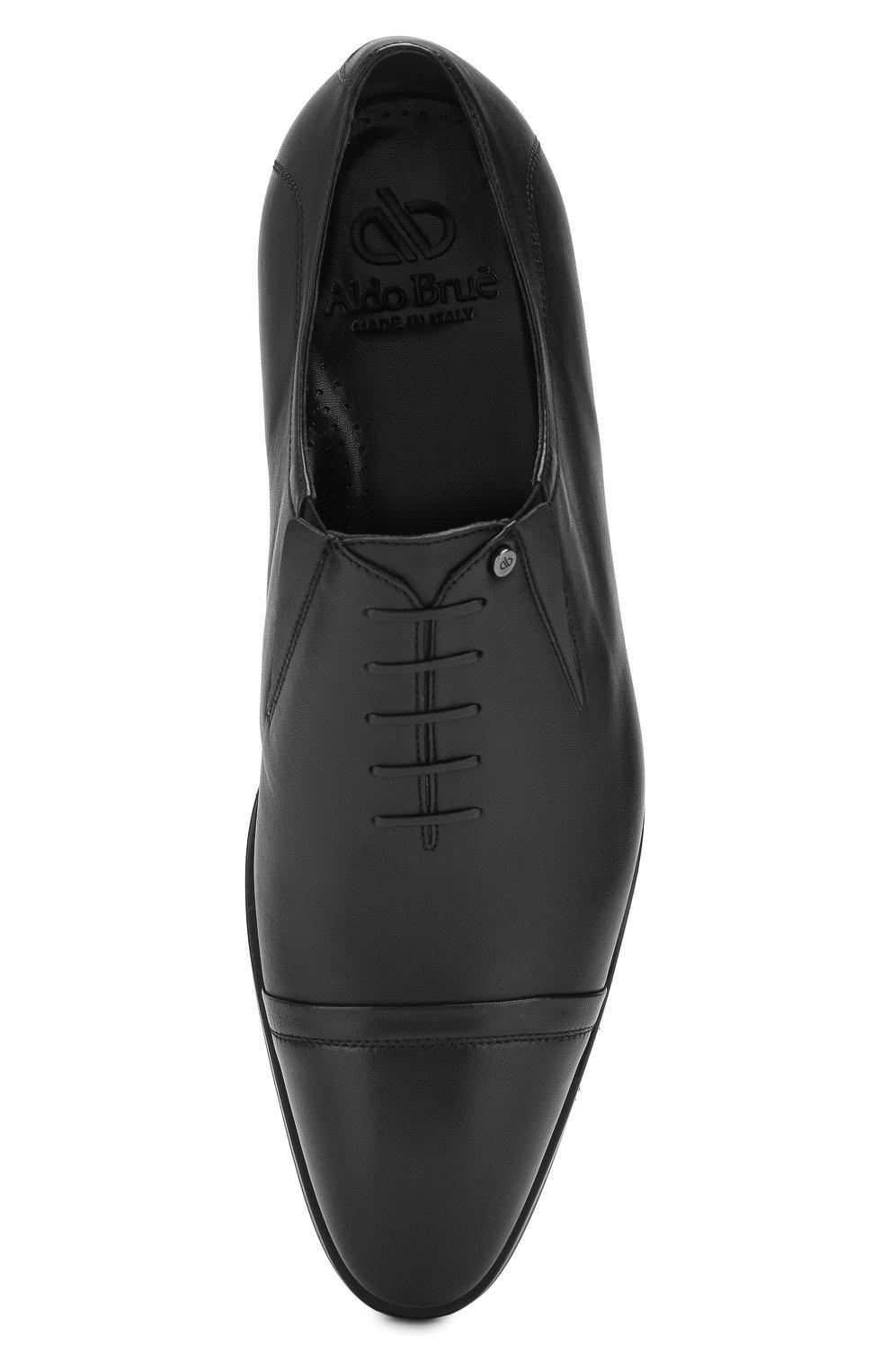 Мужские кожаные лоферы ALDO BRUE черного цвета, арт. AB604FPH-NL | Фото 5