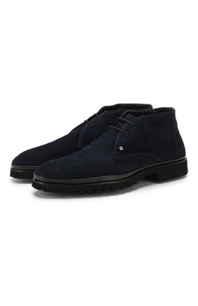 Мужские замшевые ботинки ALDO BRUE темно-синего цвета, арт. AB8514H-SA | Фото 1