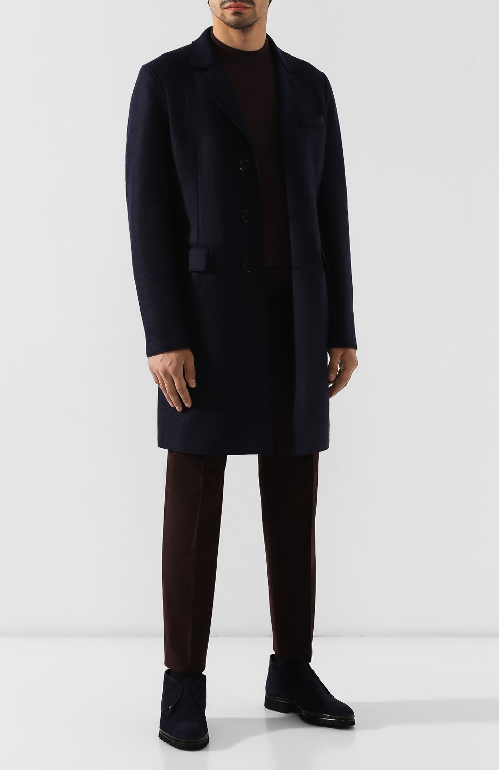 Мужские замшевые ботинки ALDO BRUE темно-синего цвета, арт. AB8514H-SA | Фото 2
