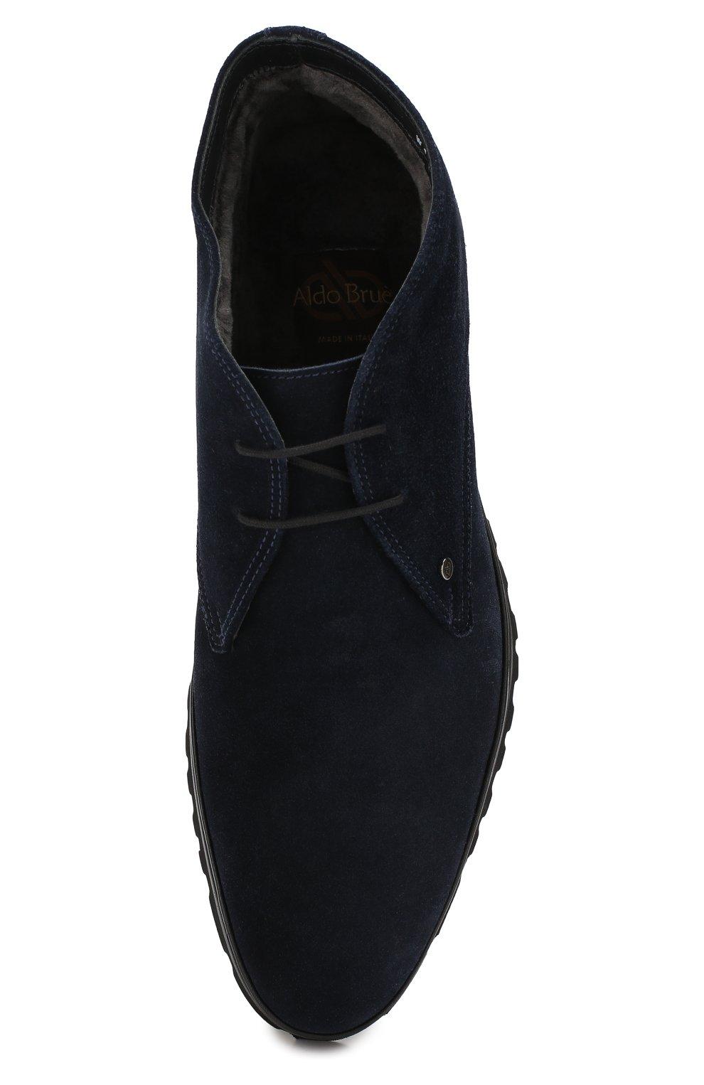 Мужские замшевые ботинки ALDO BRUE темно-синего цвета, арт. AB8514H-SA | Фото 5