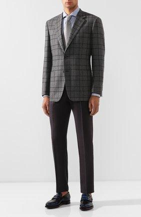 Мужские кожаные монки SANTONI темно-синего цвета, арт. MCC016175MD1HNGWU64 | Фото 2