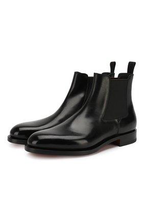 Мужские кожаные челси SANTONI черного цвета, арт. MCC016749MD1HVVDN01 | Фото 1