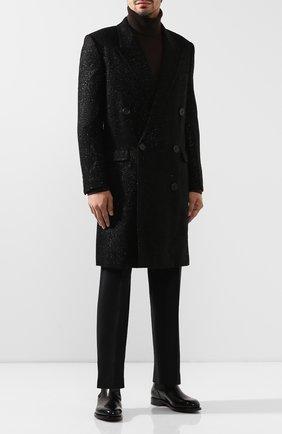Мужские кожаные челси SANTONI черного цвета, арт. MCC016749MD1HVVDN01 | Фото 2