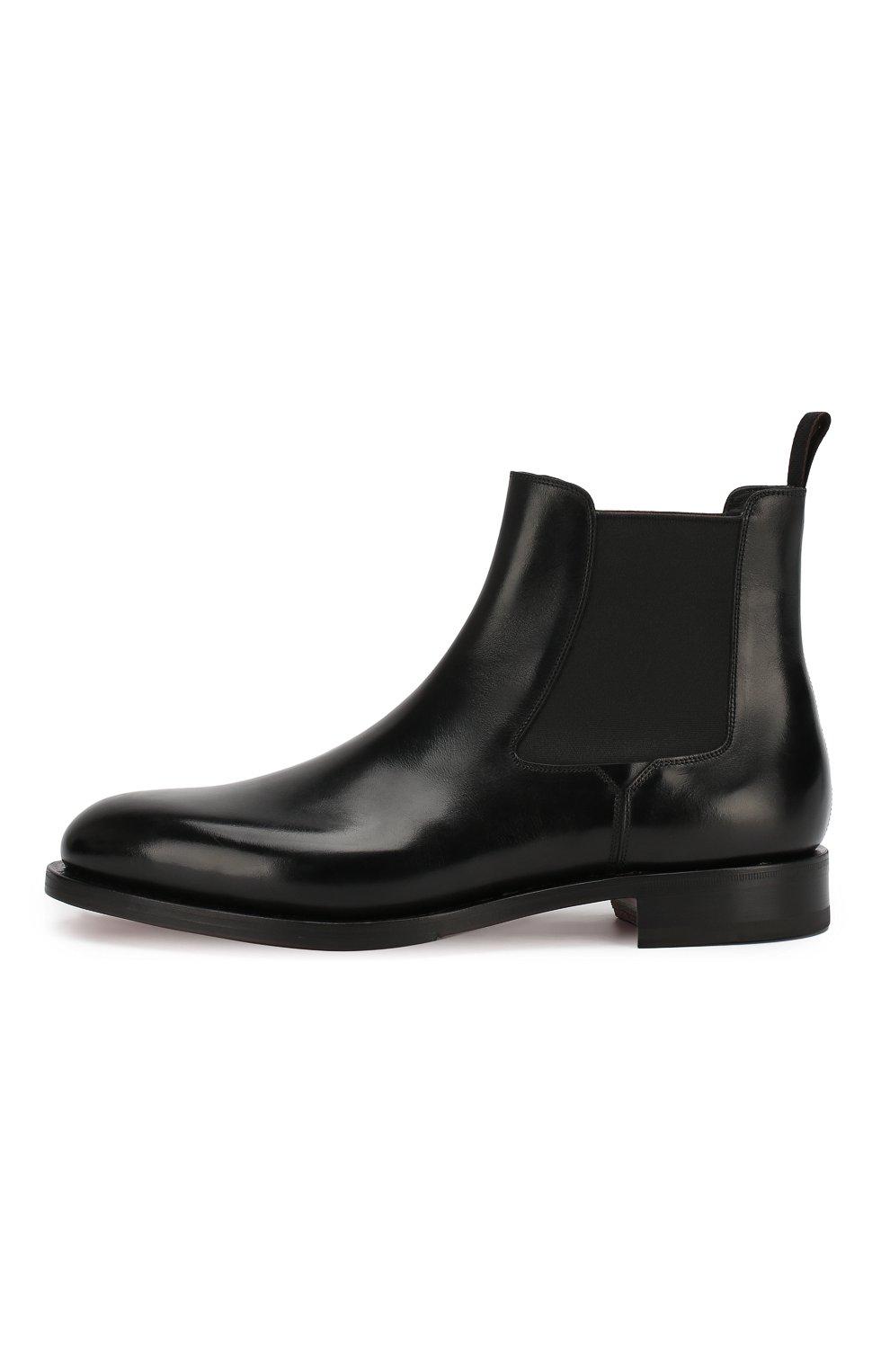 Мужские кожаные челси SANTONI черного цвета, арт. MCC016749MD1HVVDN01 | Фото 3