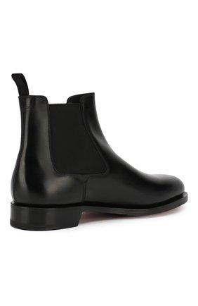 Мужские кожаные челси SANTONI черного цвета, арт. MCC016749MD1HVVDN01 | Фото 4