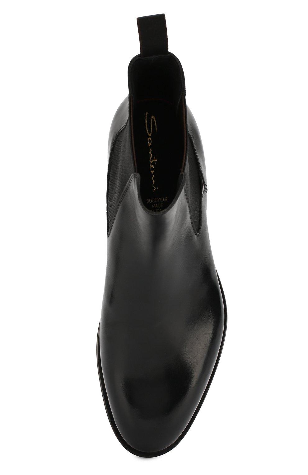 Мужские кожаные челси SANTONI черного цвета, арт. MCC016749MD1HVVDN01 | Фото 5