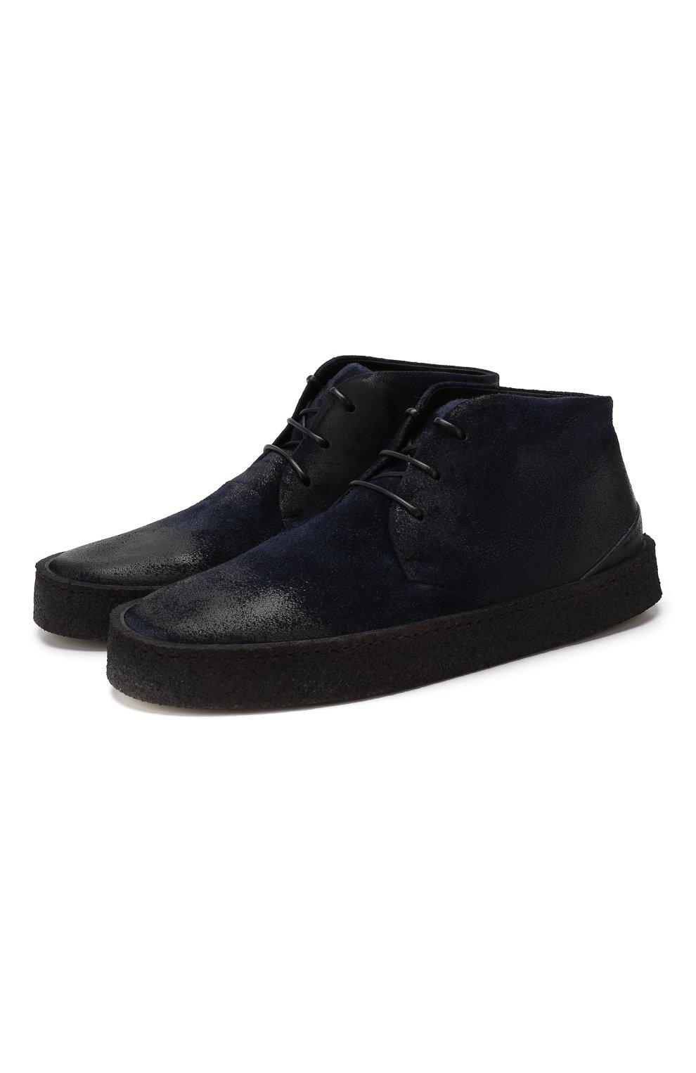Мужские замшевые ботинки MARSELL темно-синего цвета, арт. MM2743/SPALLA R0VESCI0 | Фото 1