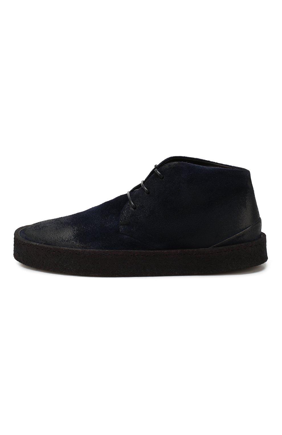 Мужские замшевые ботинки MARSELL темно-синего цвета, арт. MM2743/SPALLA R0VESCI0 | Фото 3