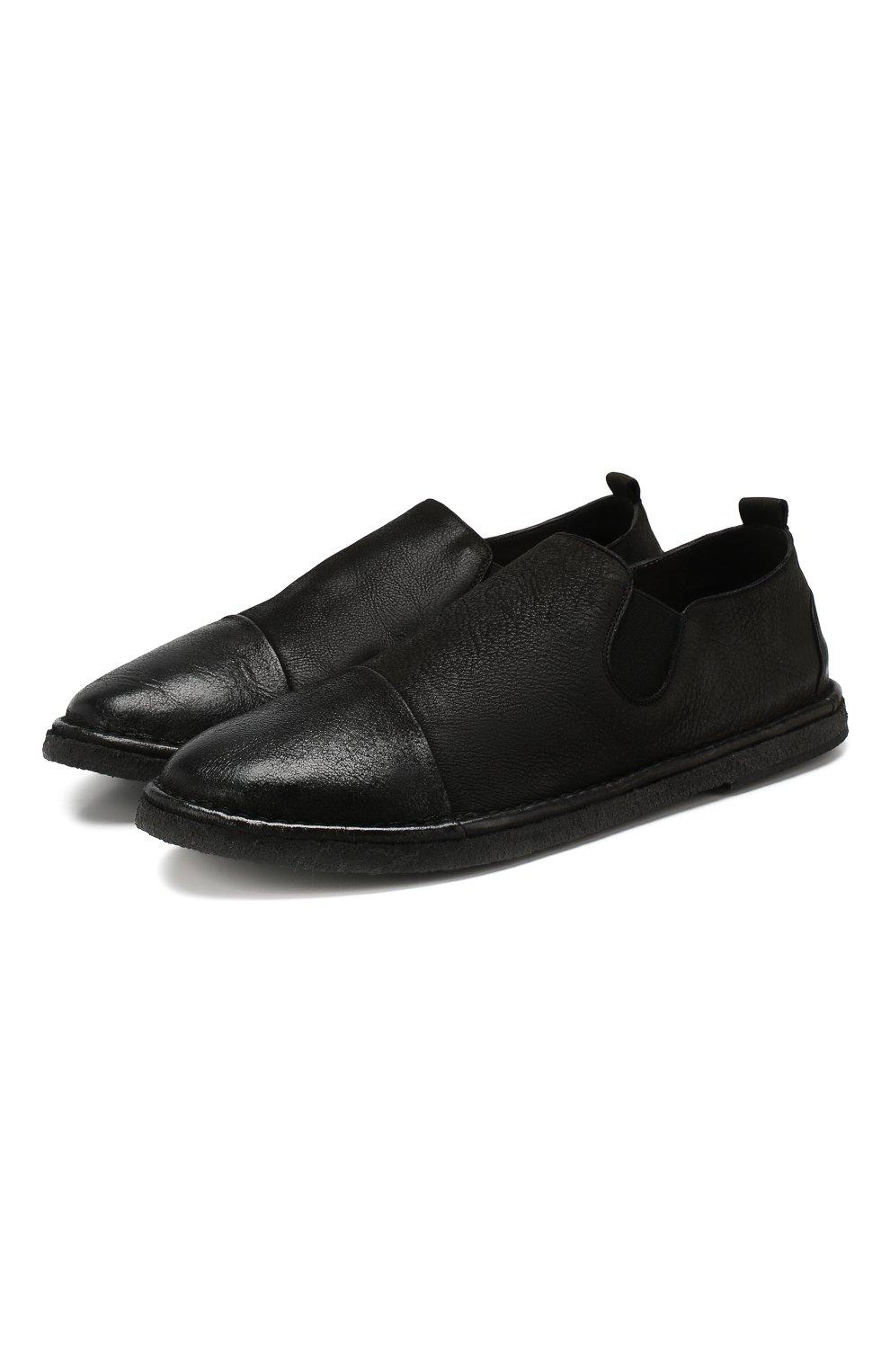 Мужские кожаные лоферы MARSELL черного цвета, арт. MM2798/NEVE | Фото 1
