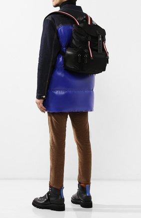Мужской текстильный рюкзак crew BALLY черного цвета, арт. CREW SM.T/70 | Фото 2